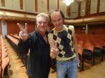 Captain Green mit dem deutschen Star-Komiker Olaf Schubert